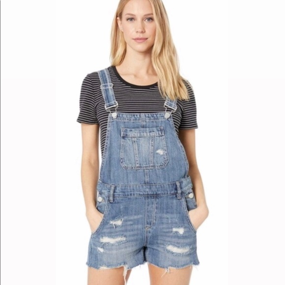 Blank NYC Denim Overall Shorts